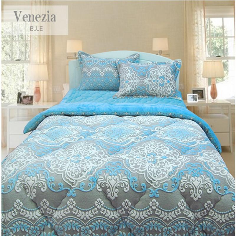 [modern.i]威尼斯经典花纹样式被子床盖枕套三件套 粉红色 2.0*2.3m