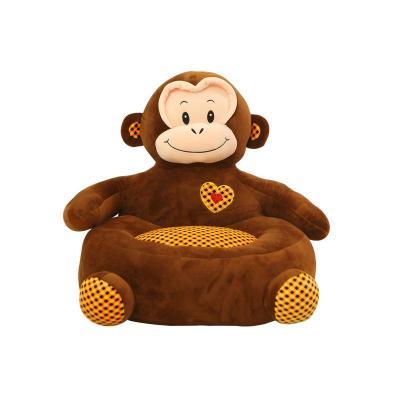 可爱卡通懒人沙发小狗猴子青蛙幼儿居家毛绒玩具