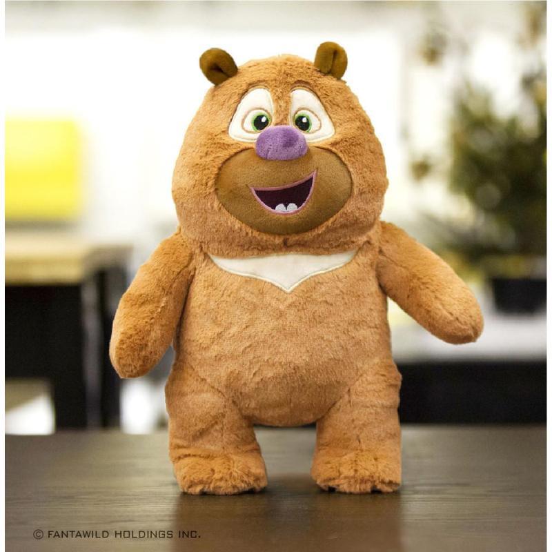 玩具 毛绒玩具 毛绒公仔 靠垫抱枕 布艺玩具 皇冠猴 官方正品熊出没图片