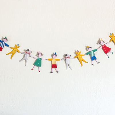 孩派 可爱卡通 派对用品 儿童生日装扮 幼儿园早教房间装饰 手拉手