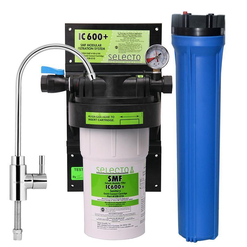 森乐(selecto)smf ic600 增强型阻垢家用直饮净水机商用净水器