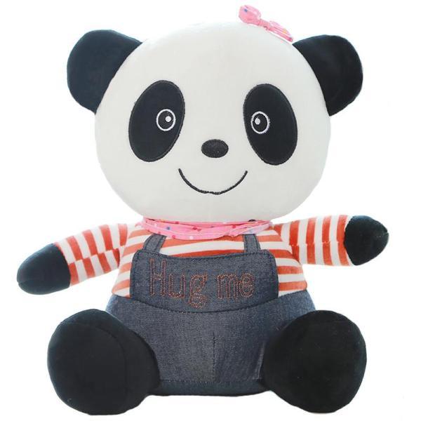 【意特朗毛绒公仔】可爱牛仔熊猫新款情侣泰迪熊毛绒