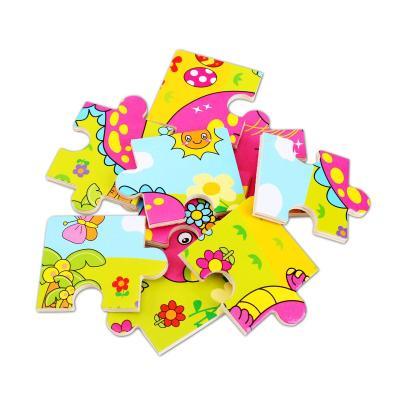 小皇帝 木质卡通动物拼图 9块智力拼板 儿童益智早教玩具 恐龙pg99115