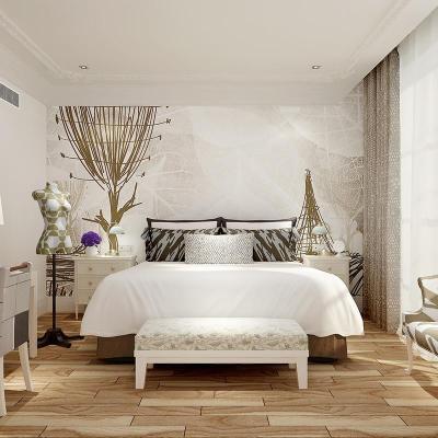 米素大型壁画 卧室客厅婚房墙纸 简约现代沙发电视背景 随心 无纺布