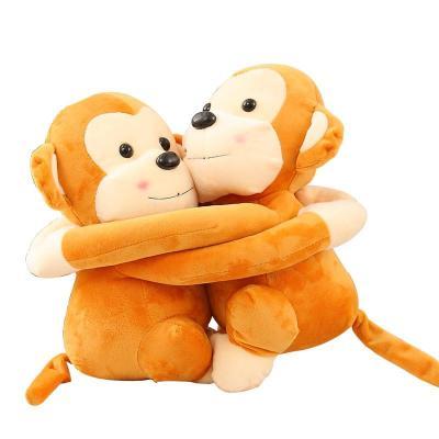 安吉宝贝情侣悠嘻猴子毛绒玩具公仔 可爱抱抱猴玩偶布娃娃 生日礼物女