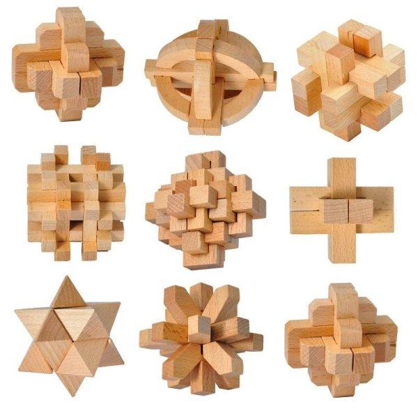 木 拼插积木 迷宫/拼图 磁力棒/磁贴 立体拼插 一点 一点木制孔明锁