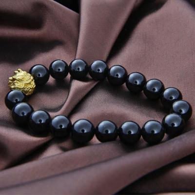 爱恋珠宝 黄金手链转运珠3d硬金龙头串珠 手链配件 1.62克
