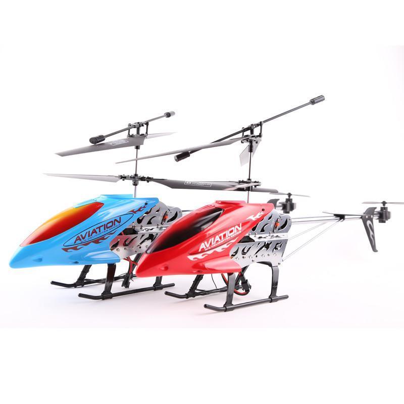 立煌超大型耐摔55厘米充电合金遥控飞机 3.5通遥控直升机 红色