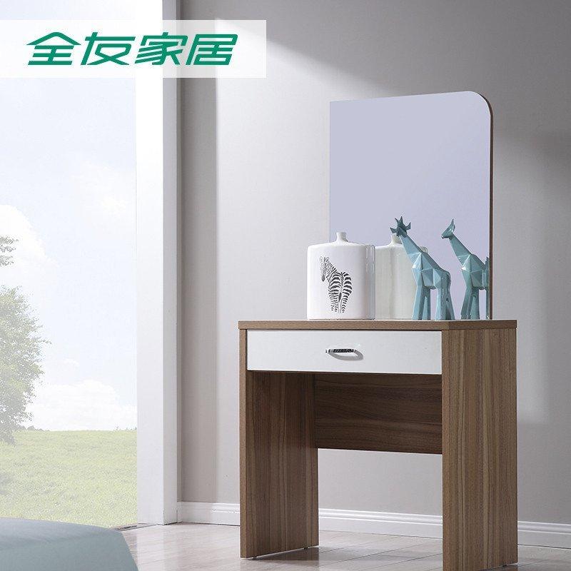 5米双人床 床头柜*2 五门衣柜 梳妆台凳(白橡色)