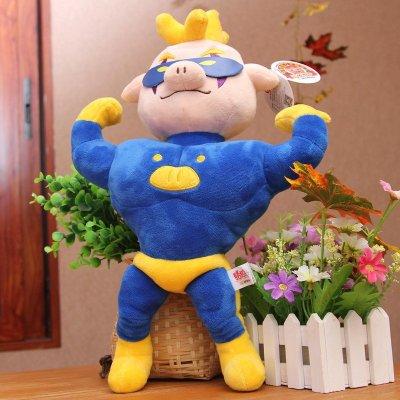 飞天猪小猪卡通毛绒儿童玩具【超人强】