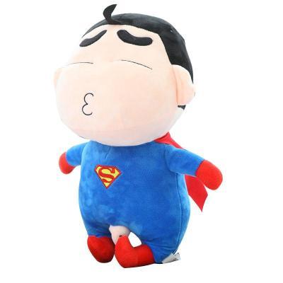 安吉宝贝可爱蜡笔小新玩偶 复仇者联盟超人毛绒玩具公仔 儿童节生日