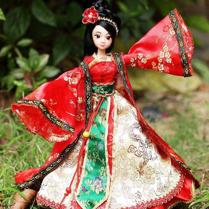 古代芭比娃娃中国风barbie中国贵妃古装芭比套装
