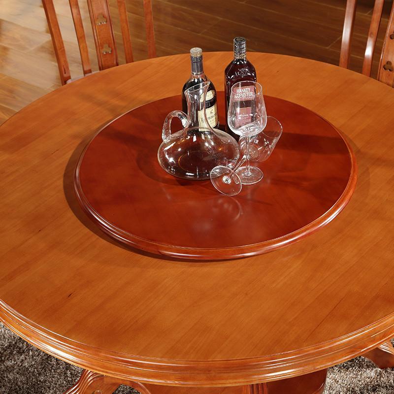 天成博源 现代餐厅仿古家具中式餐桌 实木圆桌 酒店饭店小圆桌1.