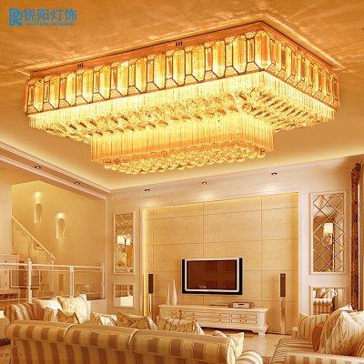 灯欧式大气客厅灯led吸顶灯金色卧室餐厅灯饰灯具