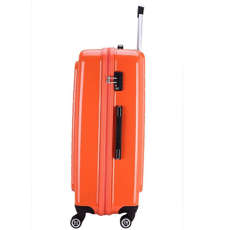 爱华仕拉杆旅行箱女行李箱男飞机轮abs pc登机箱包6100 橙色 24寸高清