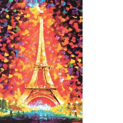 加厚油画世界名画星空益智一千块拼板(埃菲尔铁塔)