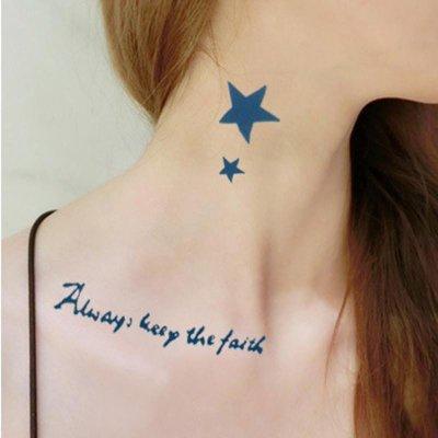 韩国男女款防水纹身贴纸 个性刺青贴 多款可选 087 love you字母