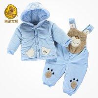诺诺宝贝男女宝宝冬装婴儿童装背带裤棉衣加厚