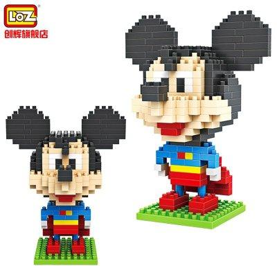loz 钻石颗粒塑料积木 迪士尼拼装积木 9419米奇超人(迪士尼米奇 唐老