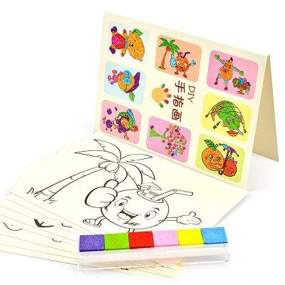 芙蓉天使手指画颜料6色安全无毒可水洗彩色宝宝涂鸦画画绘画套装 早教