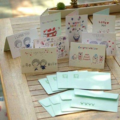 芭娜娜中秋节贺卡手绘传统复古明信片生日贺卡创意礼品送爱人送妈妈生