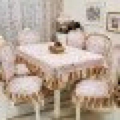 欧式餐桌布椅垫椅套套装田园加大椅子套台茶几