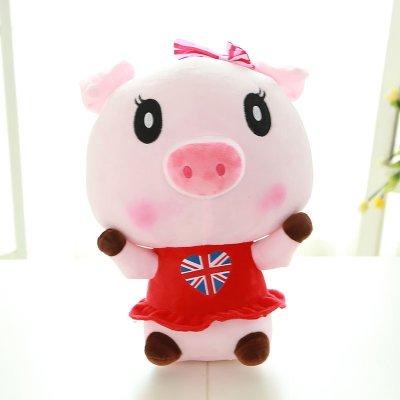 毛绒玩具情侣猪公仔抱枕可爱猪猪玩偶婚庆布娃娃一对女款25cm f