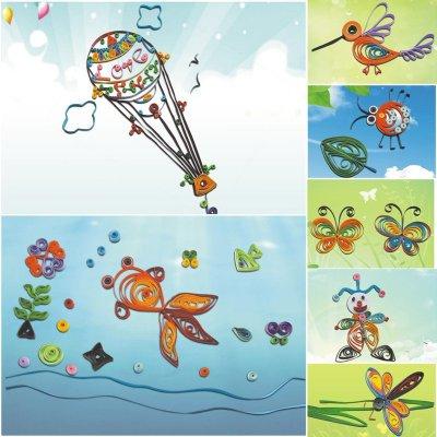 大贸商 幼儿园儿童手工纸艺制作衍纸套装diy创意衍纸画材料卷纸笔工具