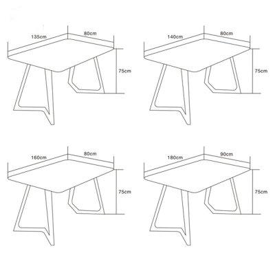 北欧宜家实木餐桌白橡木餐桌椅组合创意异型脚餐桌
