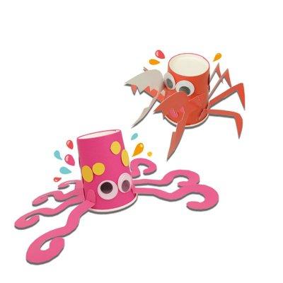 蓝迪智慧乐园 创意儿童手工制作diy材料 创意组合 益智玩具 适合4岁