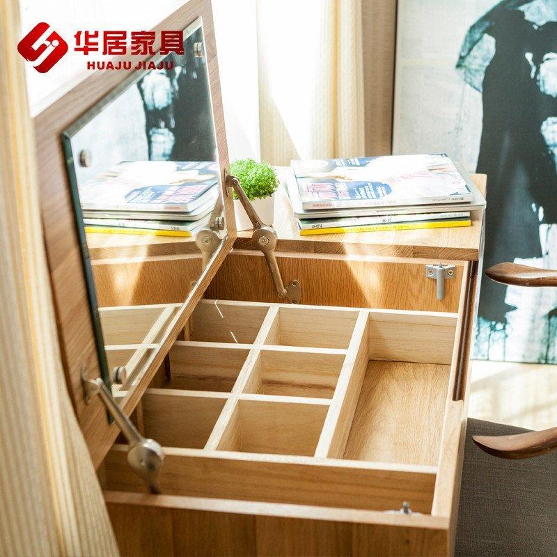 欧式实木梳妆台小户型卧室翻盖梳妆台化妆桌书桌两用