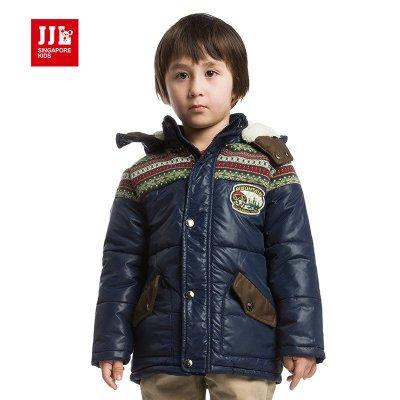 季季乐童装男童棉衣冬装儿童保暖棉服大童外套bda430