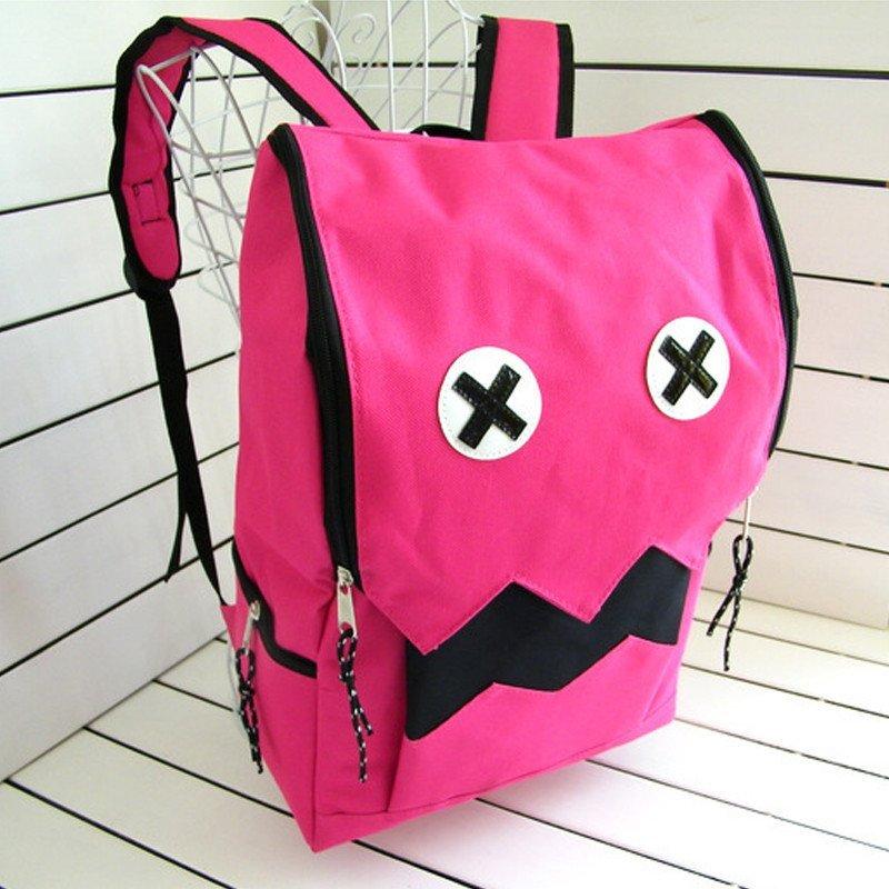 可爱怪兽双肩包卡通学院风大容量背包搞怪学生书包