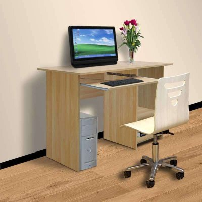 电脑桌书桌子写字台式简约家用组合木板式dn8089