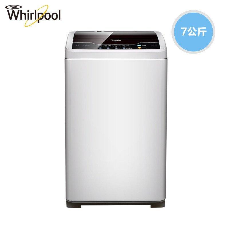 惠而浦(Whirlpool)WT7866S0W 7公斤全自动波轮洗衣机(极地灰)