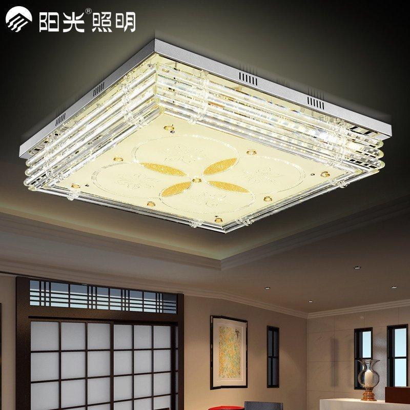 阳光照明 led卧室欧式客厅水晶吸顶灯具现代简约温馨