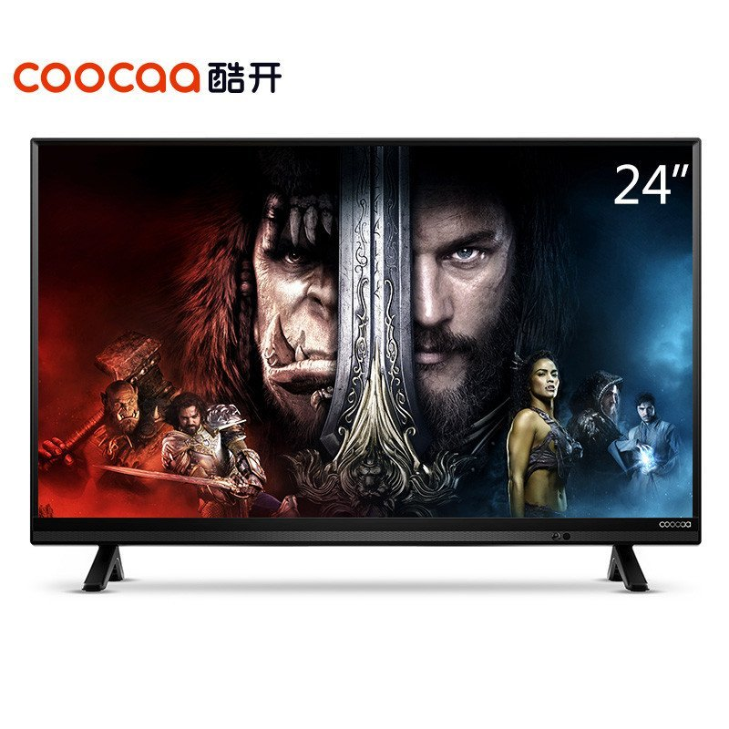 酷开(coocaa) K24 24英寸小企鹅网络智能液晶平板电视 酷开系统WIFI(黑色)