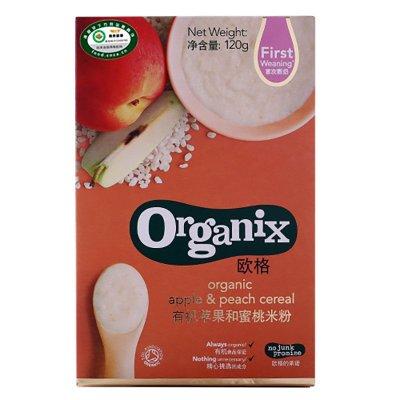 Organix 欧格 有机苹果和蜜桃米粉 120g 6.6元