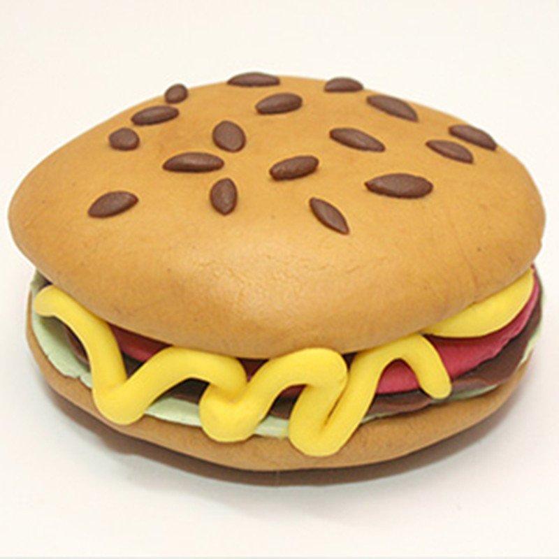 儿童diy手工玩具 韩国原装3d安全无毒 3岁 男女 diy套装-汉堡包