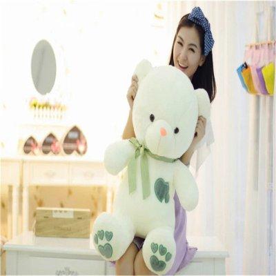 泰迪熊爱心熊抱抱熊毛绒玩具熊 脚印熊 七夕情人节可爱 女生生日礼物