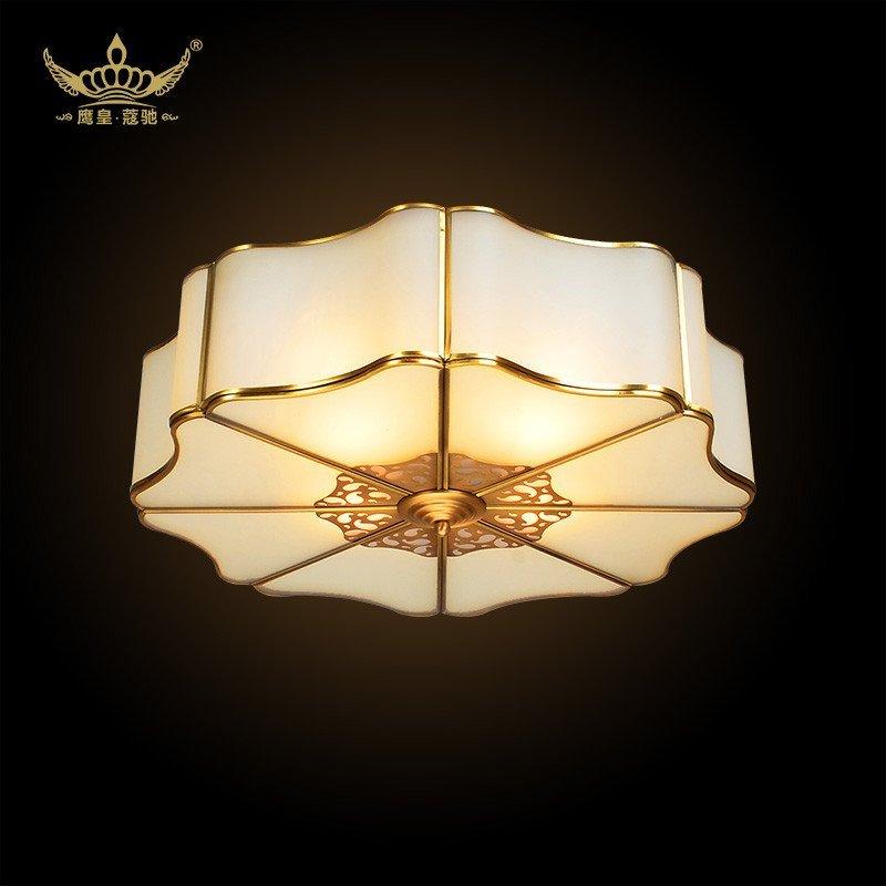 简约欧式美式卧室阳台餐厅书房全铜吸顶灯具灯饰