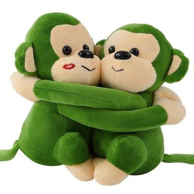 可爱情侣抱抱猴子小猴子猩猩毛绒玩具毛绒公仔布娃娃