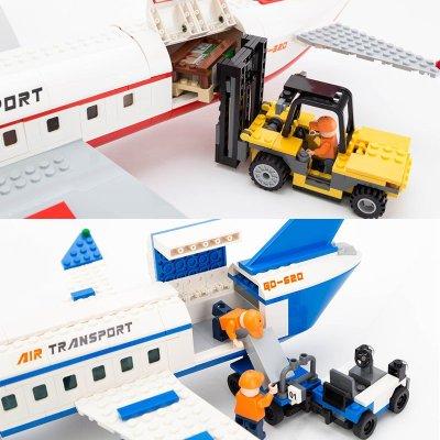 新乐新益智拼装积木飞机空中客车拼插古迪积木儿童益智玩具礼物 私人