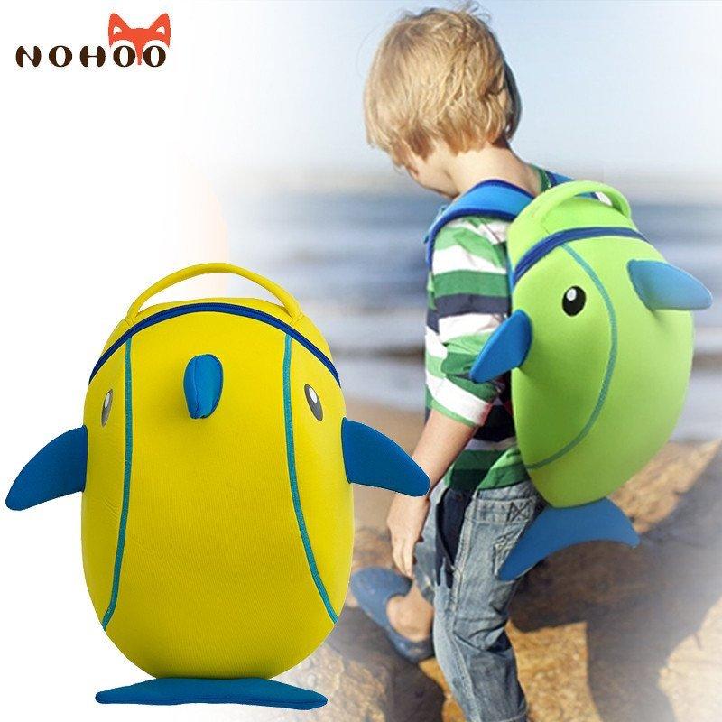 诺狐儿童书包 幼儿园男女童可爱卡通小海豚 小学生双肩背包韩版nh009h