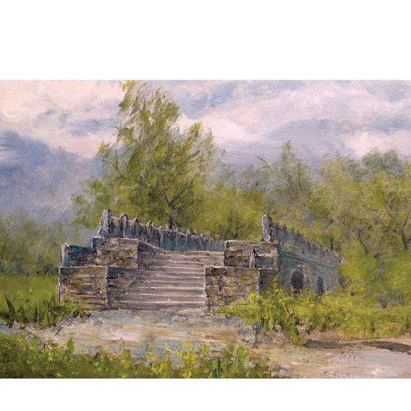 国家装帧协会会员 吴赵铎油画作品《风景2》40x80cm 知何堂艺术品高清