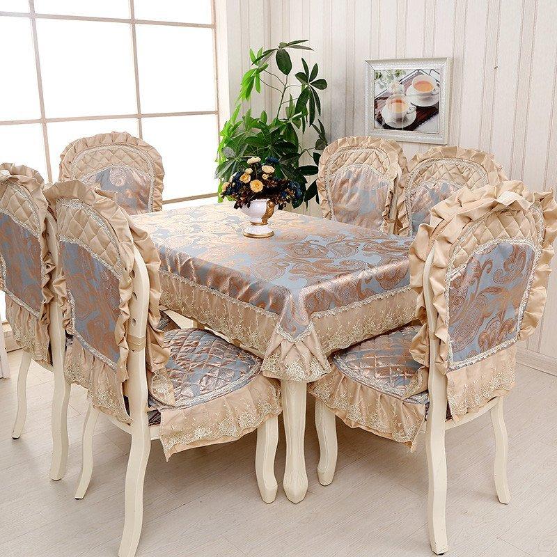 凡轩 欧式大款餐椅垫坐垫餐椅套餐桌布布艺椅套餐桌布