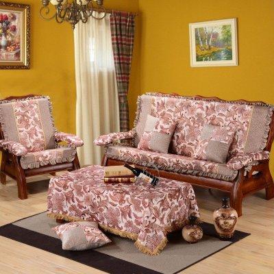 红木实木沙发垫子木质联邦椅子一体坐垫