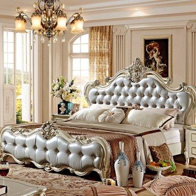 【左森木格床】左森集美欧式床1.8米新古典床家具城桥定慧官网木格图片