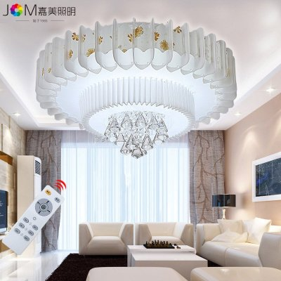 溫馨浪漫圓形水晶燈客廳燈餐廳燈過道燈飾