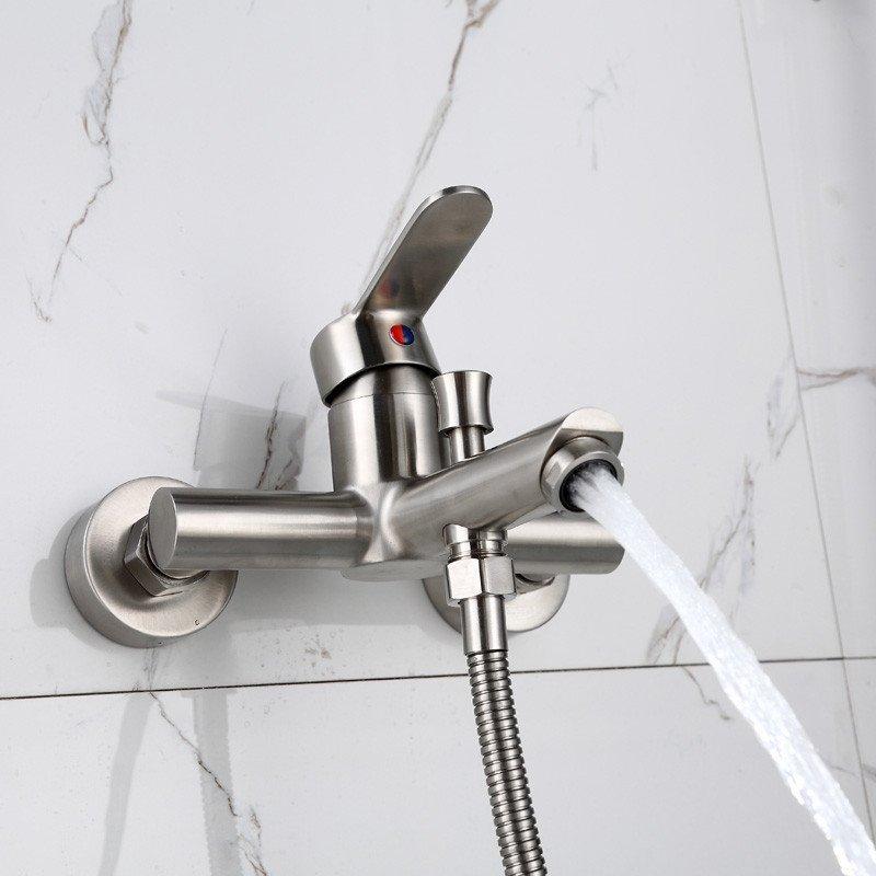 圣豪卫浴 304不锈钢花洒 简易花洒套装 淋浴花洒套装 混水阀淋浴龙头图片